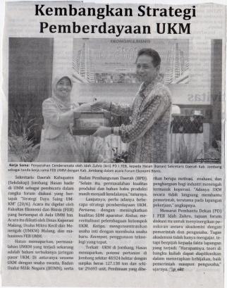 PD I FEB UMM bersama Sekretaris Daerah Kab. Jombang