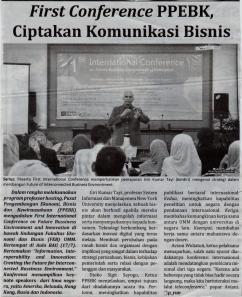 Gumar Tayi pada seminar Internasional yang diselenggarakan oleh FEB
